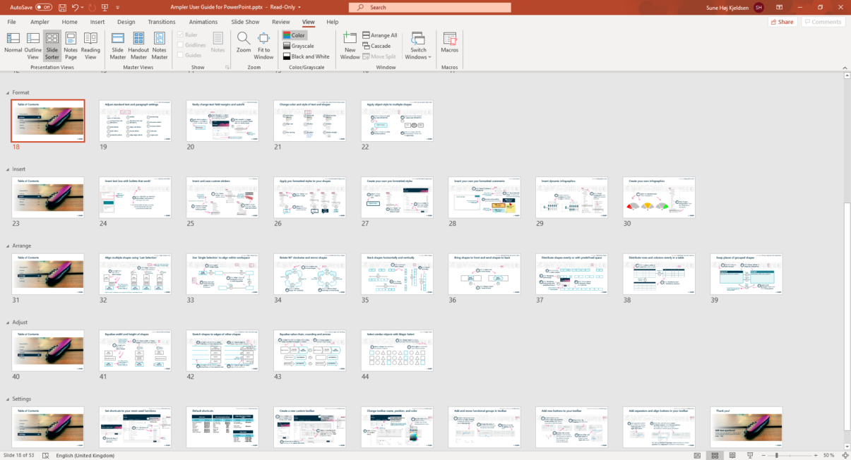Table Of Contents Powerpoint Ampler